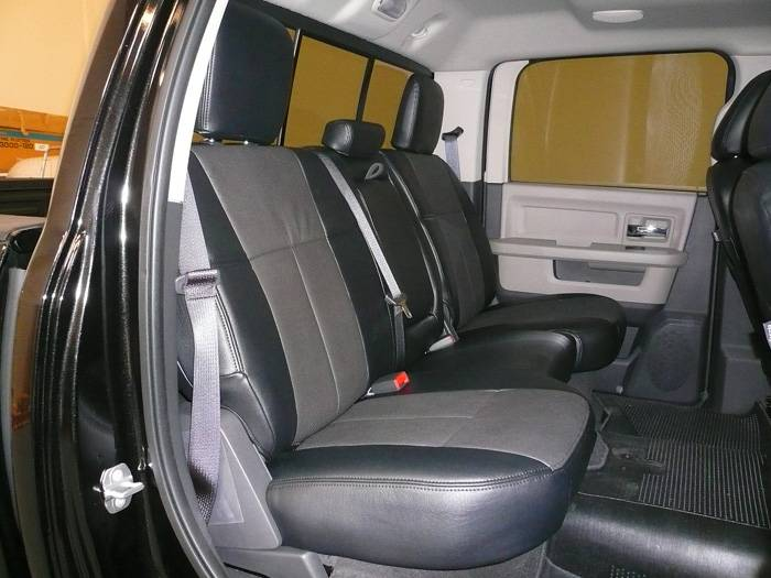 Ram 2500 For Sale >> Clazzio Leather Seat Covers: Dodge Ram 2500 / 3500 2006 - 2007 (Mega Cab / Rear Split Seat)