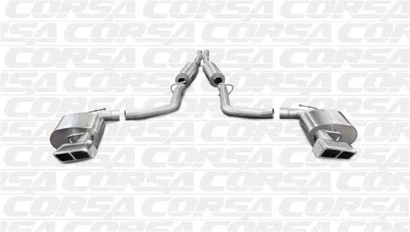 Corsa Extreme Cat Back Exhaust Polished Auto