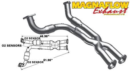 Magnaflow   MagnaFlow Catalytic Converter: Jeep Grand Cherokee SRT8 2006    2010