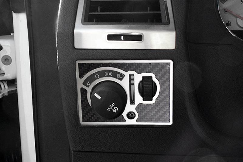 American Car Craft Carbon Fiber Light Control Trim Plate Dodge Challenger R T Srt8 2008 2014