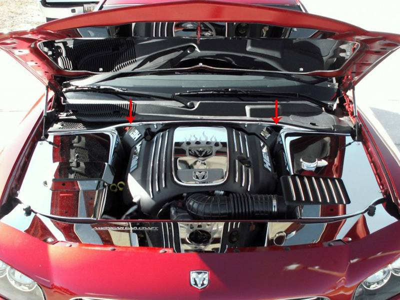 American Car Craft Firewall Cover  Chrysler 300c    Dodge Charger    Magnum 5 7l Hemi 2005