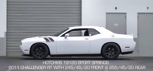 Hotchkis Lowering Springs Dodge Challenger R T Srt8 2011