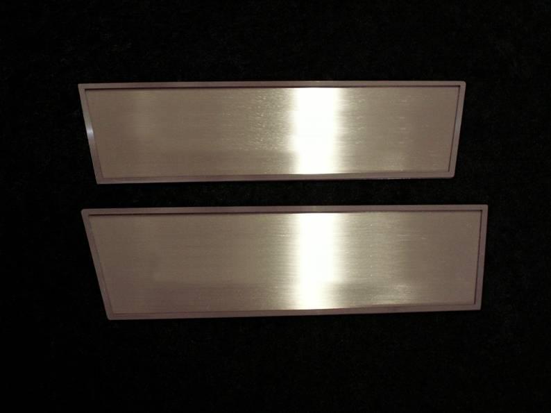Challenger 5.7 and SRT 8 Door Handle Pull Trim Brushed 2Pc 2008-2014