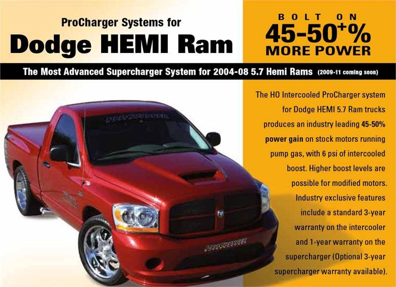 procharger supercharger kit dodge ram 5 7l hemi 2004 2008. Black Bedroom Furniture Sets. Home Design Ideas