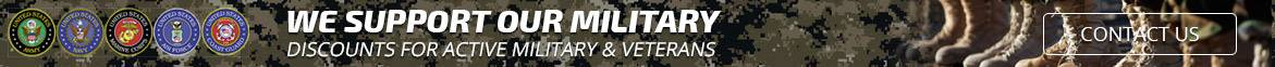 Contact us for information about Military Discounts