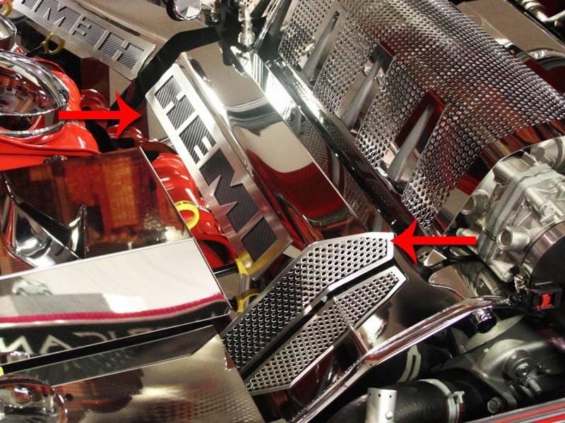 American Car Craft  U0026quot Hemi U0026quot  Polished    Perforated Fuel Rail