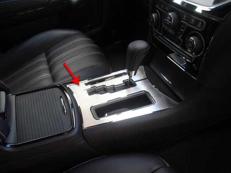 American Car Craft Brushed Shifter Plate With Polished