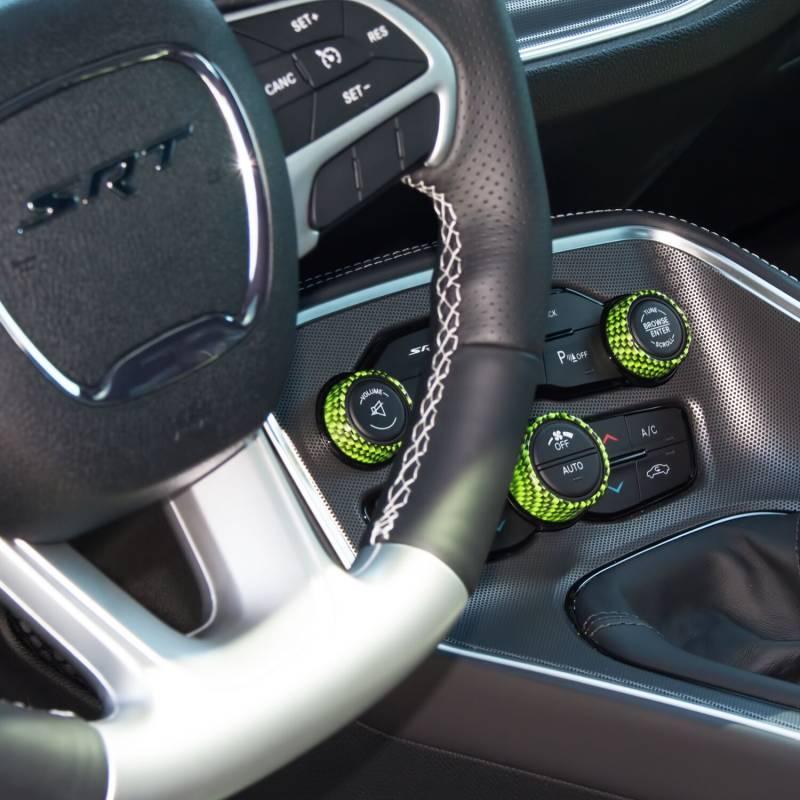 American Brother Designs Interior Knob Kit Carbon Fiber Dodge Challenger 2015 2018