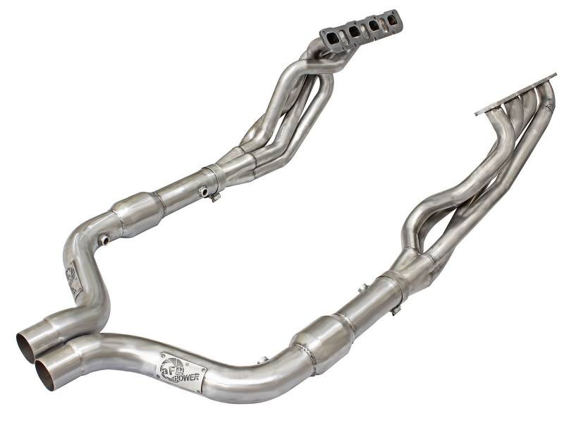 """dodge charger scat pack headers AFE Long-Tube Headers & Mid Pipes (2""""): Dodge Challenger / Charger 2.2L 2  / 2.2L SRT Hellcat 2 - 2"""
