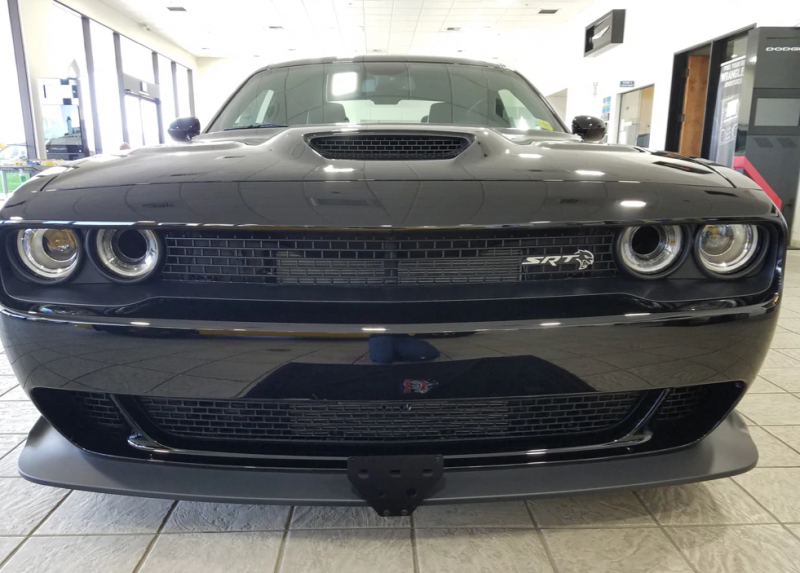 Lower Mount STO N SHO Front License Plate Bracket for 2015-2020 Dodge Challenger Hellcat and Demon