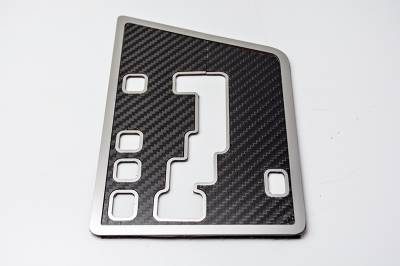 American Car Craft - American Car Craft Carbon Fiber Shift Plate: Dodge Challenger R/T SRT8 2008 - 2014 (Auto Only)