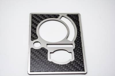 American Car Craft - American Car Craft Carbon Fiber Light Control Trim Plate: Dodge Challenger R/T SRT8 2008 - 2014