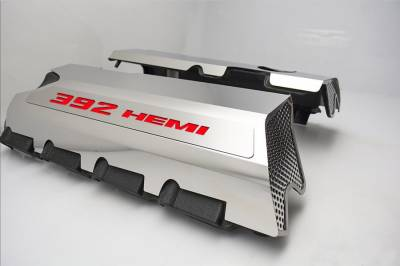 "American Car Craft - American Car Craft ""392"" Polished Fuel Rail Covers: 300 / Challenger / Charger 6.4L SRT8 2011 - 2020"