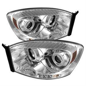 Spyder CCFL Halo Projector Headlights (Chrome): Dodge Ram 2006 - 2009