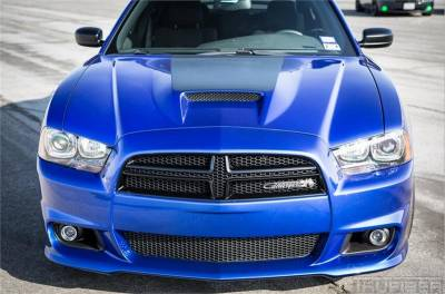 APR Carbon Fiber Front Wind Splitter W Rods Dodge