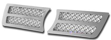APS - APS Stainless Steel Bumper Grill Inserts: Chrysler 300 / 300C 2005 - 2010