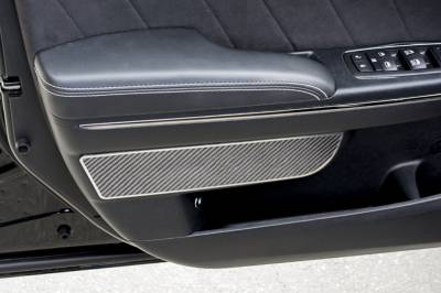 American Car Craft - American Car Craft Front Carbon Fiber Door Badge 2pc: Dodge Charger 2011 - 2020