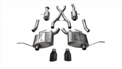 Corsa - Corsa Sport Cat-Back Exhaust (Black): Jeep Grand Cherokee 5.7L V8 2011 - 2020