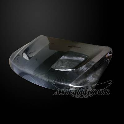 Amerihood - Amerihood Carbon Fiber SRT Functional Ram Air Hood: Jeep Grand Cherokee 2011 - 2021