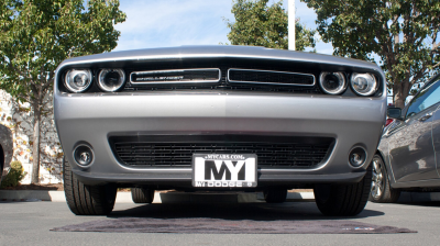 StoNSho - Sto N Sho Quick Release Front License Plate Bracket: Dodge Challenger 2015 - 2020 (w/OUT Adaptive Cruise)