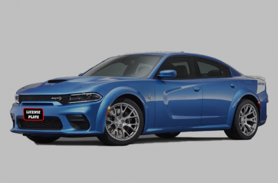 StoNSho - Sto N Sho Quick Release Front License Plate Bracket: Dodge Charger Hellcat / ScatPack / Daytona WIDEBODY 2019 - 2020 (w/OUT Adaptive Cruise)