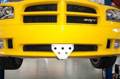 StoNSho - Sto N Sho Quick Release Front License Plate Bracket: Dodge Charger SRT8 / Superbee 2006 - 2010 (Lower Mount)