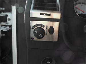 American Car Craft - American Car Craft Brushed Light Control Trim Plate: Dodge Challenger R/T SRT8 2008 - 2014