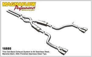 Magnaflow - MagnaFlow Cat-Back Exhaust (Quad Split Exit): Dodge Challenger SRT8 2008 - 2014