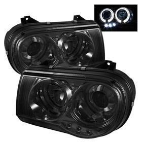 Spyder - Spyder LED Dual Halo Projector Headlights (Smoke): Chrysler 300C 2005 - 2010