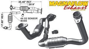 Magnaflow - MagnaFlow High Flow Catalytic Converter: Jeep Grand Cherokee 2007 - 2010 3.7L