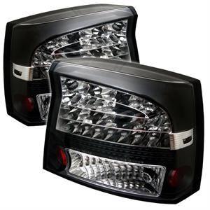 Spyder - Spyder Black LED Tail Lights: Dodge Charger 2006 - 2008