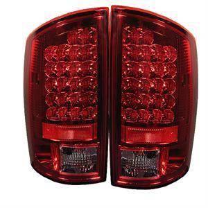 Spyder - Spyder Red / Clear LED Tail Lights: Dodge Ram 2002 - 2006 (All Models)