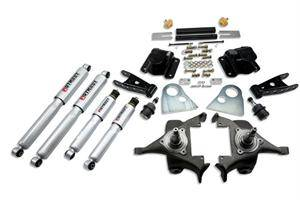 "Belltech - Belltech Lowering Kit 2"" F 4"" R drop With SP Shocks: Dodge Ram V8 (Extended Cab Auto Trans) 1994 - 1999"
