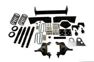 """Belltech - Belltech Lowering Kit 4"""" Or 5"""" F 6"""" R drop With ND Shocks: Dodge Ram V8 (Extended Cab Auto Trans) 1994 - 1999"""