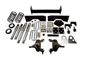 """Belltech - Belltech Lowering Kit 4"""" Or 5"""" F 6"""" R drop With SP Shocks: Dodge Ram V8 (Extended Cab Auto Trans) 1994 - 1999"""