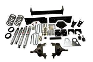 "Belltech - Belltech Lowering Kit 4"" Or 5"" F 6"" Or 7"" R drop With SP Shocks: Dodge Ram V8 (Extended Cab Auto Trans) 1994 - 1999"