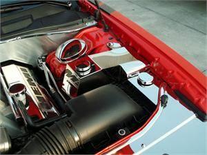 American Car Craft - American Car Craft Water Tank / Power Steering Cover: 300C / Charger / Magnum 5.7L Hemi & 6.1L SRT8 2005 - 2010