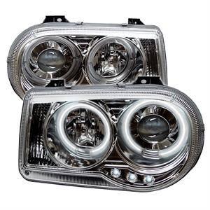 Spyder - Spyder CCFL Dual Halo Projector Headlights (Chrome): Chrysler 300C 2005 - 2010