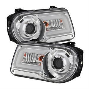 Spyder - Spyder LED DRL Projector Headlights (Chrome): Chrysler 300C 2005 - 2010