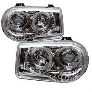 Spyder - Spyder LED Dual Halo Projector Headlights (Chrome): Chrysler 300C 2005 - 2010