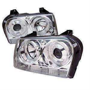 Spyder - Spyder LED Dual Halo Projector Headlights (Chrome): Chrysler 300 2005 - 2008