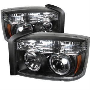 Spyder - Spyder LED Halo Projector Headlights (Black): Dodge Dakota 2005 - 2007