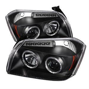 Spyder - Spyder LED Dual Halo Projector Headlights (Black): Dodge Magnum 2005 - 2007