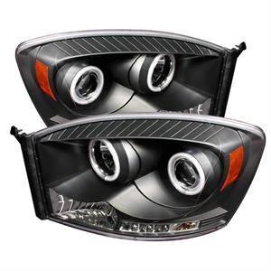 Spyder - Spyder LED Halo Projector Headlights (Black): Dodge Ram 2006 - 2009