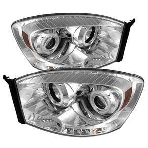 Spyder - Spyder CCFL Halo Projector Headlights (Chrome): Dodge Ram 2006 - 2009