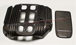 TruCarbon - TruCarbon LG114 5.7L Hemi Carbon Fiber Engine Cover: 300C / Challenger / Charger / Magnum 5.7L Hemi 2005 - 2020