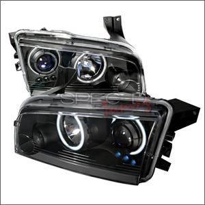 Spec D - Spec D CCFL Projector Headlights (Black):Dodge Charger 2005 - 2010