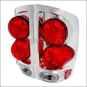 Spec D - Spec D Euro 3D Tail Lights (Chrome): Dodge Ram 2002 - 2006