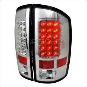 Spec D - Spec D LED Tail Lights (Chrome): Dodge Ram 2002 - 2006