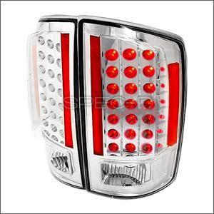Spec D - Spec D LED Tail Lights (Chrome): Dodge Ram 2007 - 2008